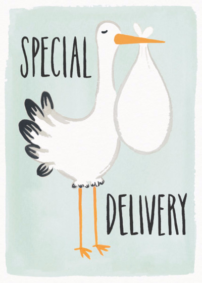 Special Delivery | Personalised Congratulations Card