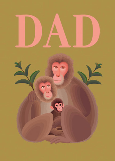 Monkey Family | Personalised Birthday Card