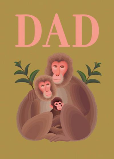 Monkey Family | Personalised Birthday Card