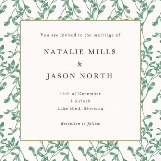 Alice   Personalised Wedding Invitation