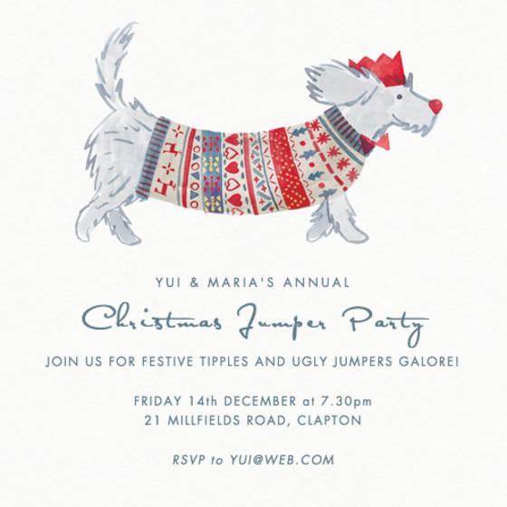Christmas Dog | Personalised Party Invitation