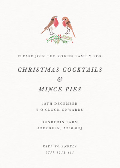 Robins | Personalised Party Invitation