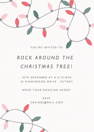 Merry & Bright | Personalised Party Invitation