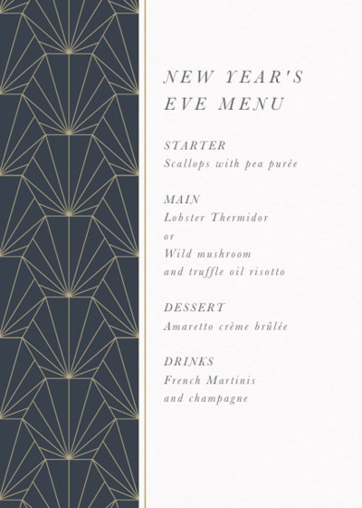 Deco Fan | Personalised Menu