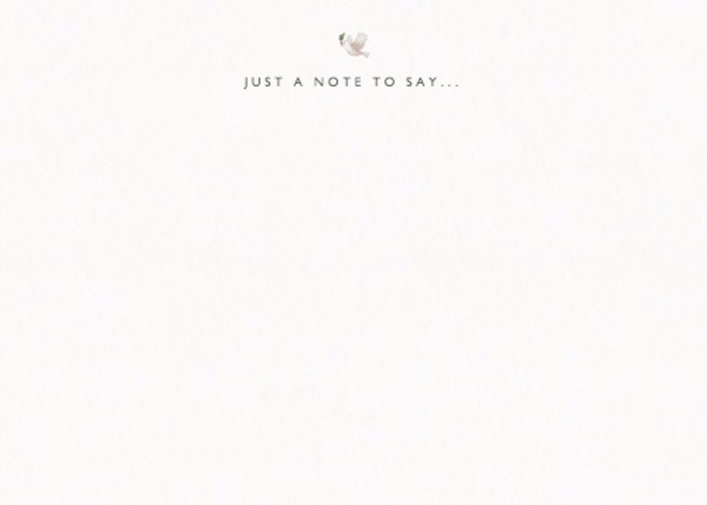 Peace Dove | Personalised Stationery Set