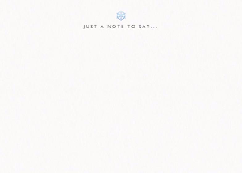 Snowflake | Personalised Stationery Set