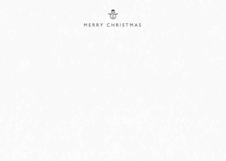 Snowman | Personalised Stationery Set