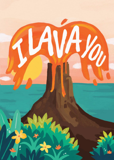 I Lava You | Personalised Greeting Card