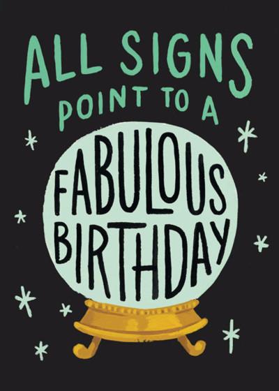 Crystal Ball | Personalised Birthday Card