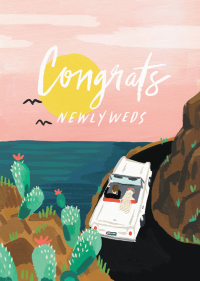 Honeymoon | Personalised Congratulations Card