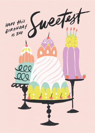 Sweetest Birthday | Personalised Birthday Card