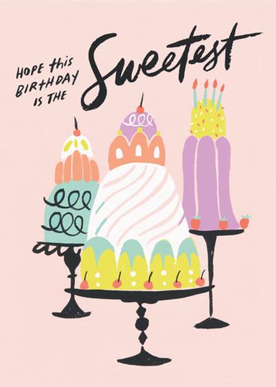 Sweetest Birthday | Personalised Birthday Card