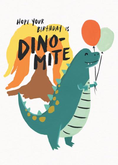 Dino-Mite Birthday | Personalised Birthday Card