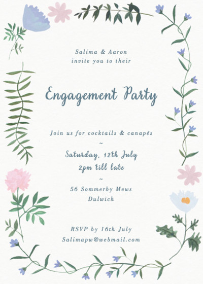 Helena | Personalised Party Invitation