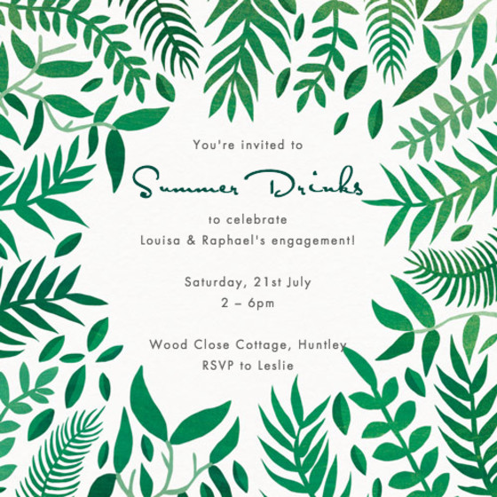 Leaves | Personalised Party Invitation