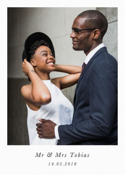 Portrait Wedding   Personalised Photo Card Set