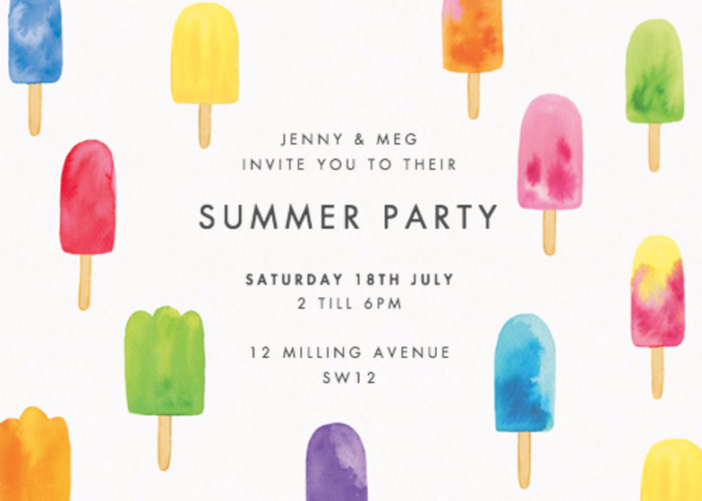 Lollies | Personalised Party Invitation