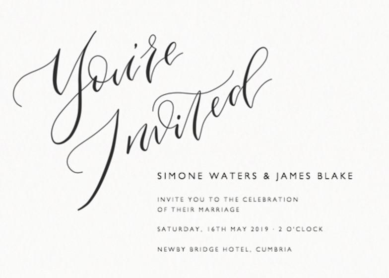 You're Invited Calligrafia | Personalised Wedding Invitation