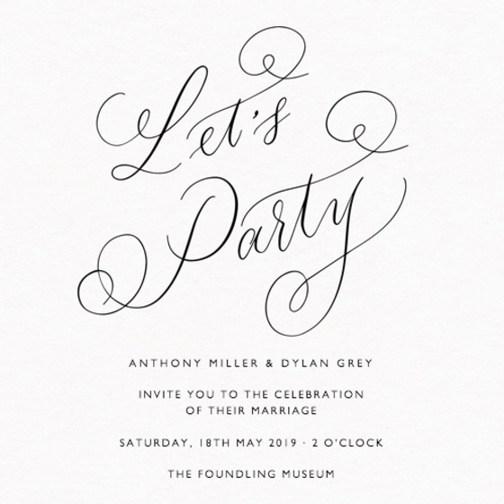 Let's Party Black | Personalised Wedding Suite