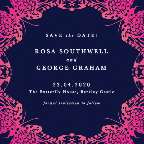 Wing Lace | Personalised Save The Date