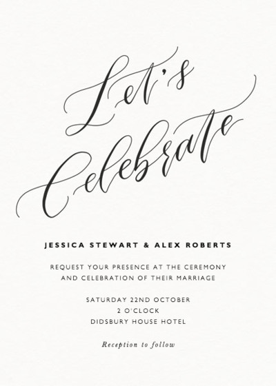 Let's Celebrate | Personalised Wedding Suite