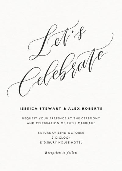 Let's Celebrate | Personalised Wedding Invitation