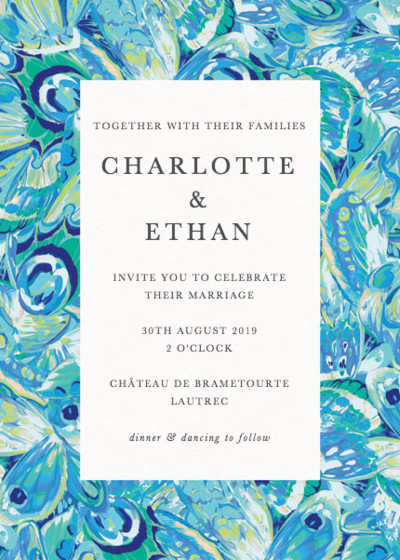 Butterfly Marble | Personalised Wedding Invitation