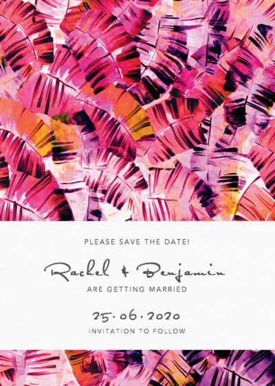 Sunset Palms | Personalised Save The Date