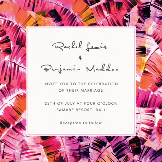 Sunset Palms | Personalised Wedding Invitation