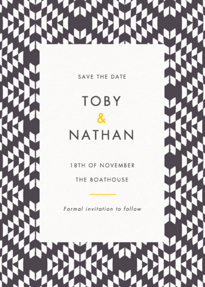 Jackson | Personalised Save The Date