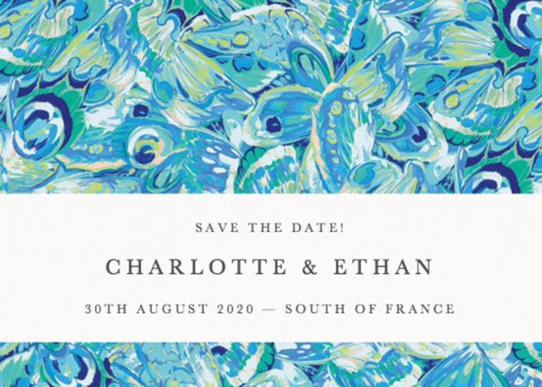 Butterfly Marble | Personalised Save The Date