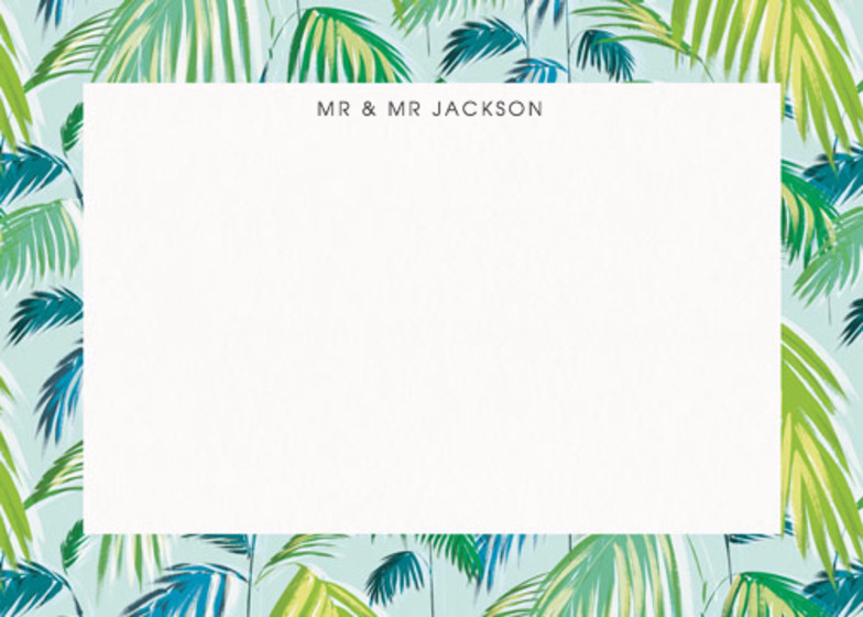 Palm | Personalised Stationery Set