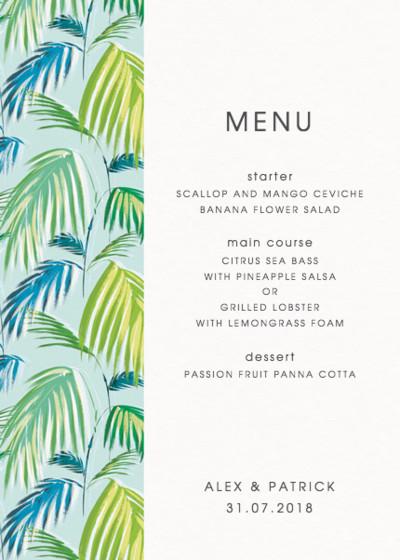 Palm | Personalised Menu