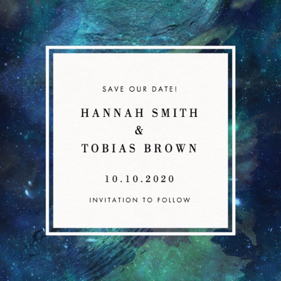 Patina Galaxy | Personalised Save The Date