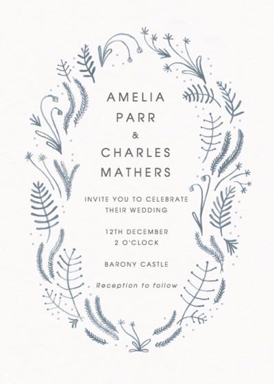 Winter Foliage | Personalised Wedding Invitation