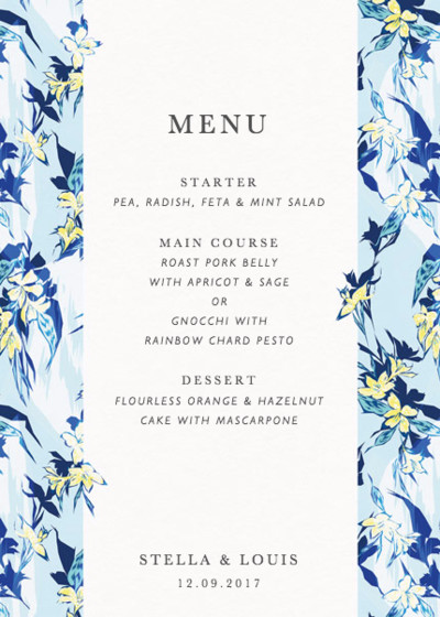 Tropical Party | Personalised Menu
