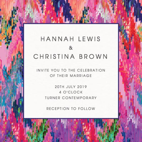Digital Bloom | Personalised Wedding Invitation