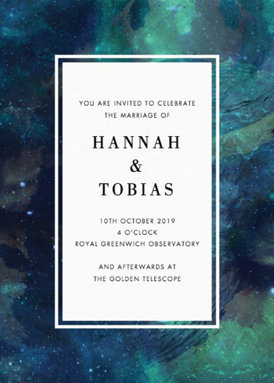Patina Galaxy | Personalised Wedding Invitation