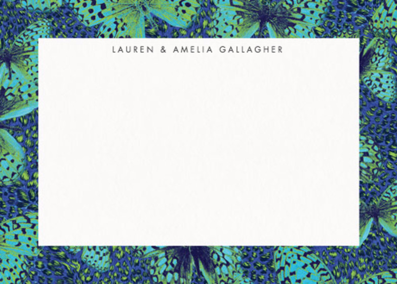 Butterfly Leopard | Personalised Stationery Set