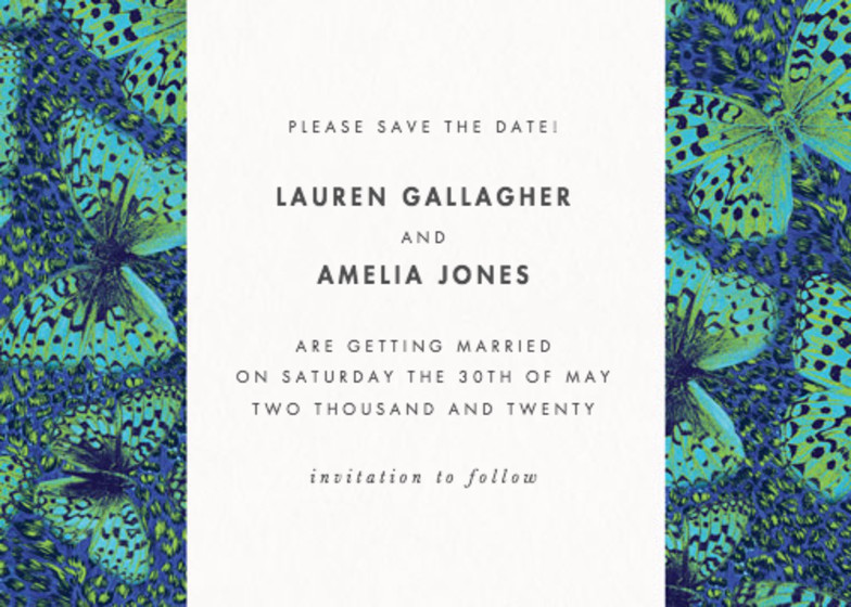 Butterfly Leopard | Personalised Save The Date