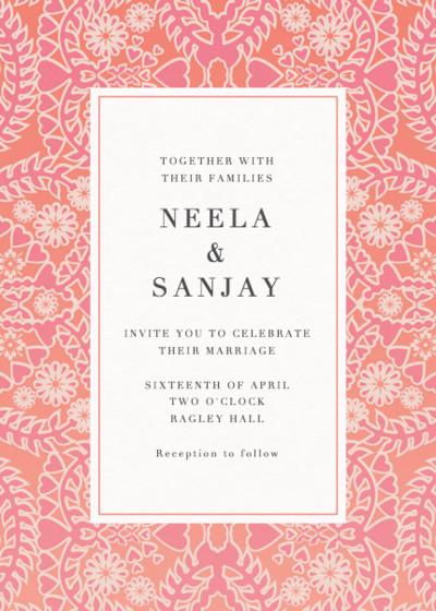 Sunset Lace | Personalised Wedding Invitation