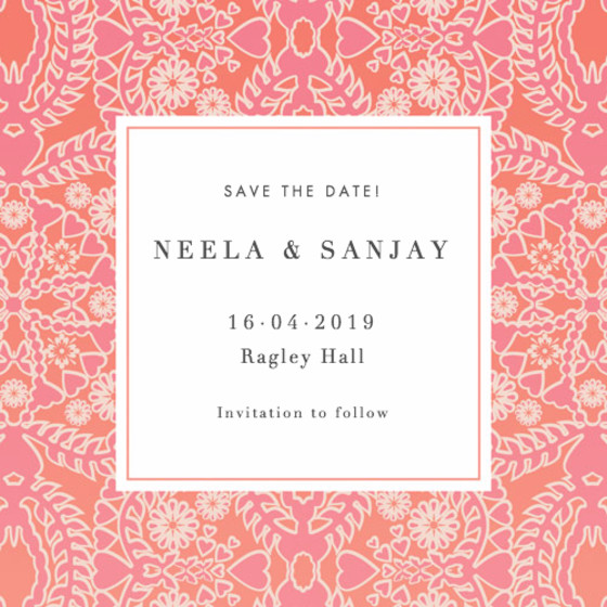 Sunset Lace | Personalised Save The Date