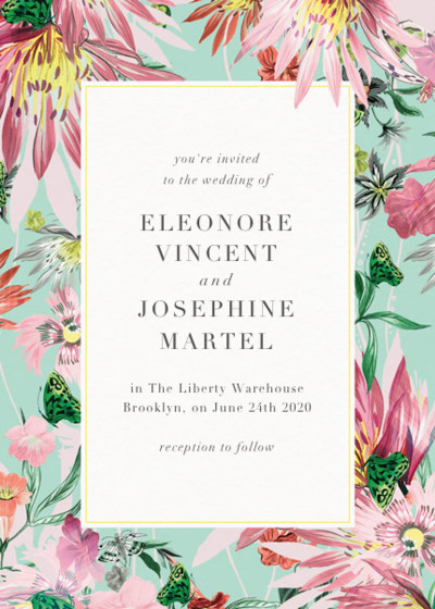 Jungle Bloom | Personalised Wedding Invitation