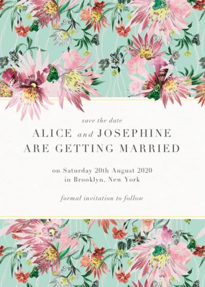 Jungle Bloom | Personalised Save The Date