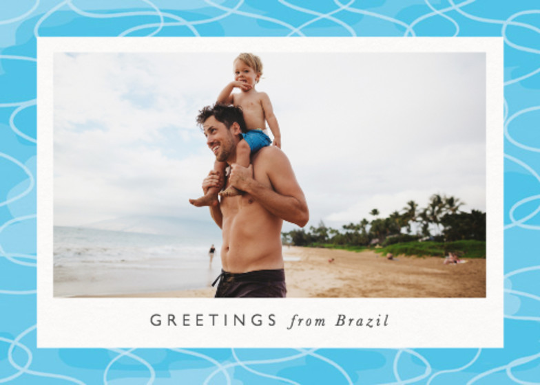 Poolside Photo | Personalised Greeting Card