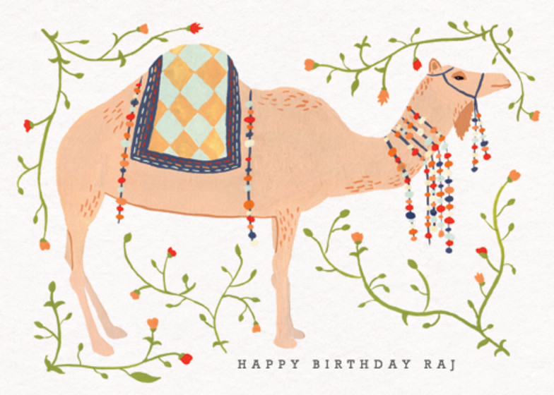 Eastern Camel | Personalised Birthday Card