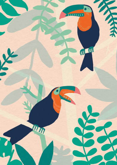Toucans | Personalised Greeting Card