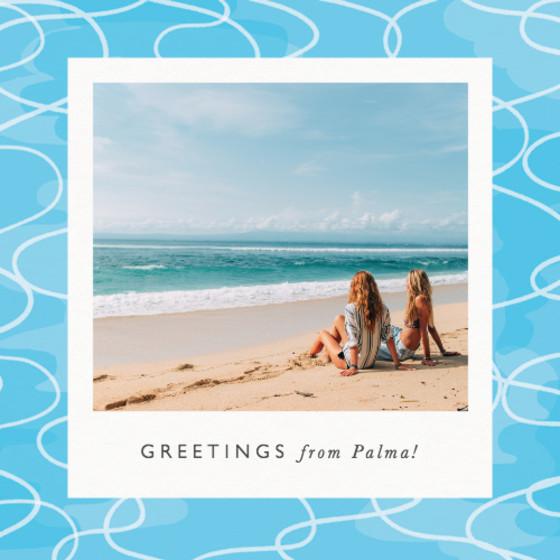 Poolside | Personalised Greeting Card