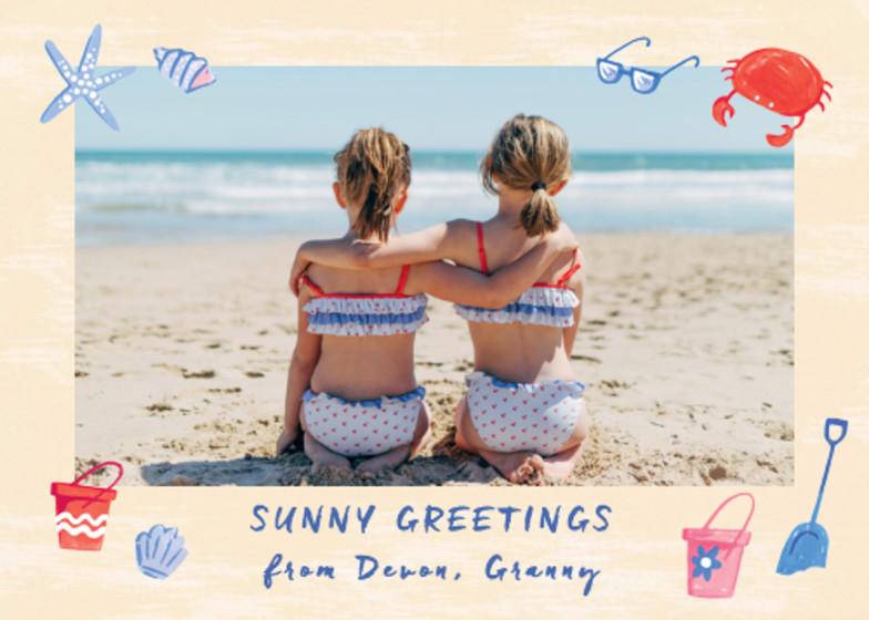 Wish You Were Here Seaside | Personalised Greeting Card