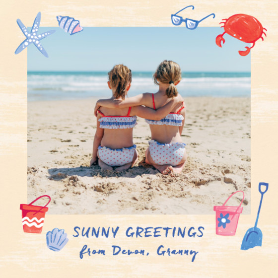 Wish You Were Here Seaside | Personalised Greeting Card